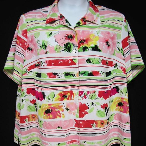 197a9347fa46c6 Allison Daley Tops   Button Down Shirt Size 22w Plus Pink   Poshmark